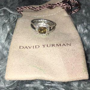 David Yurman Petite Albion Ring-Citrine